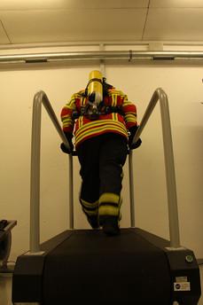 Das Laufband in der Atemschutzübungsanlage