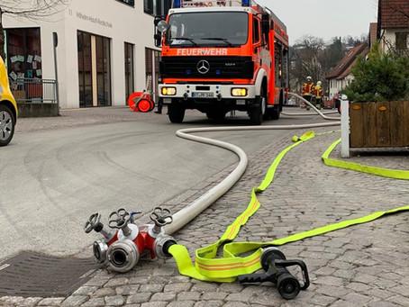 Gasaustritt auf Baustelle