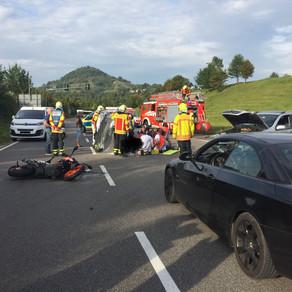 Zwei Unfälle im Bereich des Ursulabergtunnels