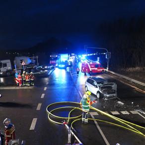Verkehrsunfall im morgendlichen Berufsverkehr