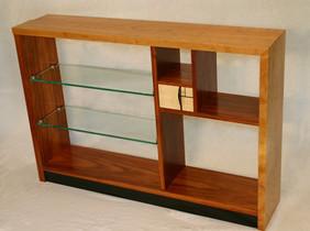 American Black Cherry, Jatoba and glass shelves based on the Fibonacci progression, down to the smallest detail