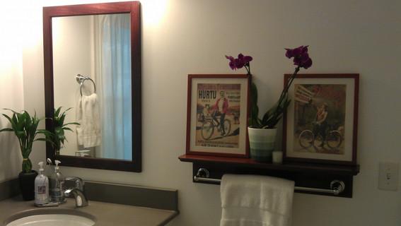 Custom Mirror and Bathroom shelf