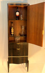 Art Deco Scotch cabinet - Ruhlmann style macassar ebony and pommele interior