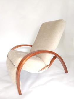 Custom reclining club chair