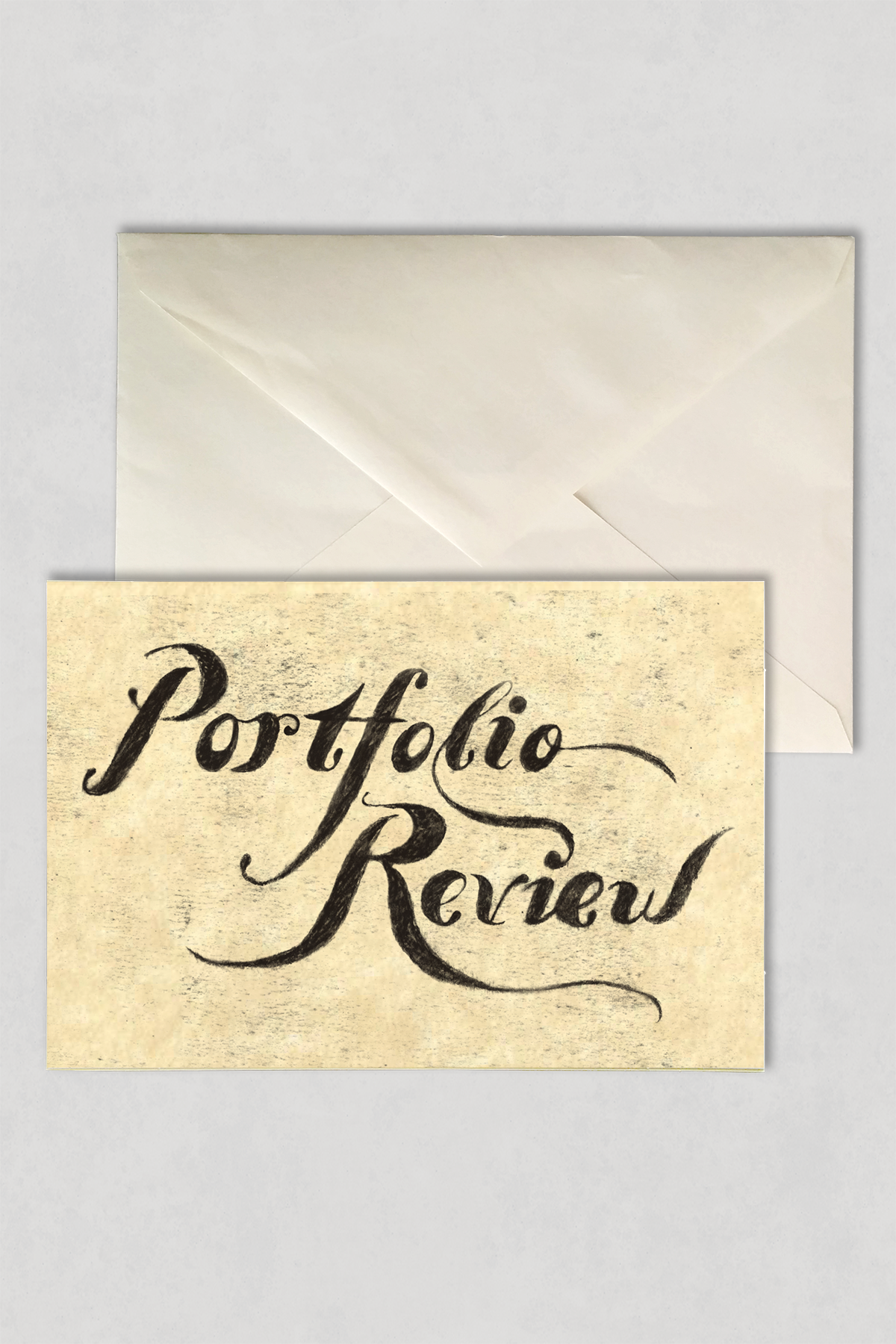Portfolio Review Invitation Poster