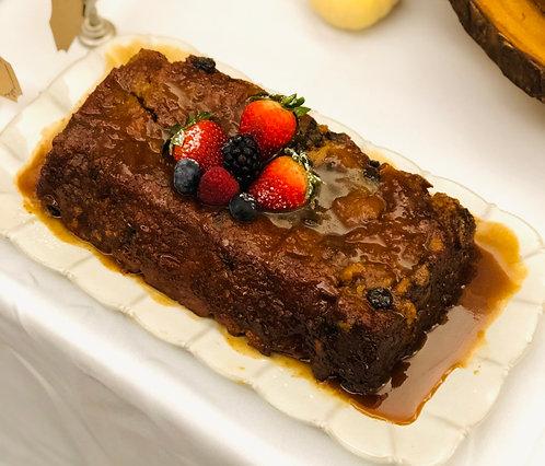 Bread Pudding with Raisins