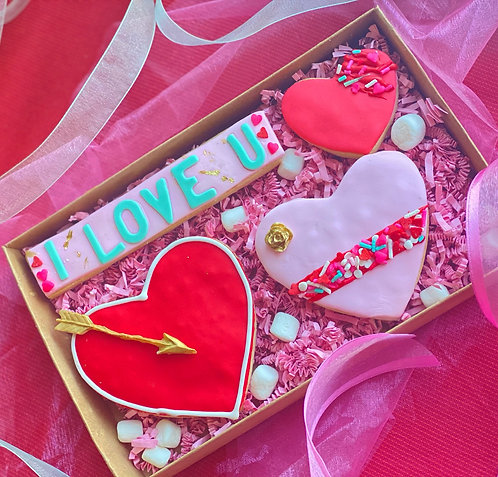 Hearts & Hearts Cookie Box