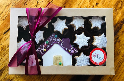 Iced House Cookie + snowflake alfajores x 12