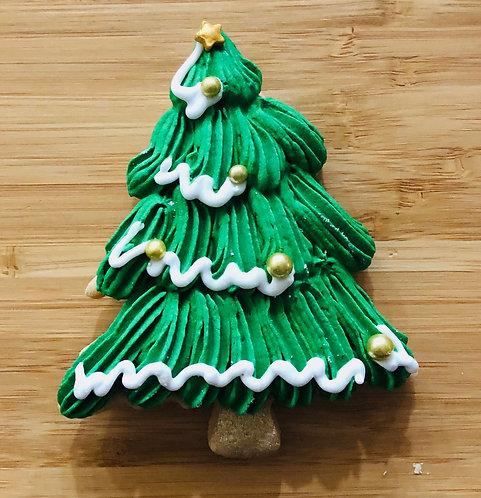 Christmas Tree Iced Cookie x 1