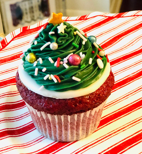 Winter Tree Red Velvet Cupcake (Min. 12)
