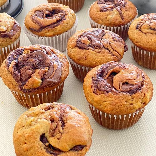 Banana Nutella Muffins x 12