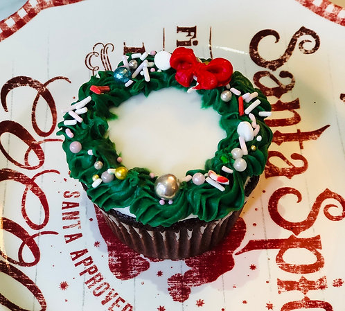 Wreath Chocolate Cupcake (Min. 12)