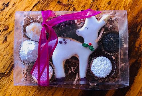 Iced Deer Cookie + Assorted treats x 6