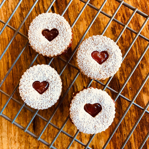 Valentine's Cookies with Strawberry Jam x 12