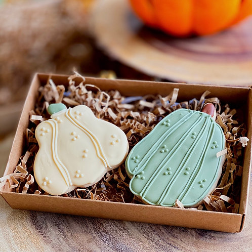 Pumpkin Iced Cookies x 2