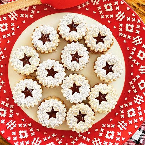 Linzer Cookies x 12