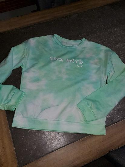 Green Tie Dye Sweatshirt