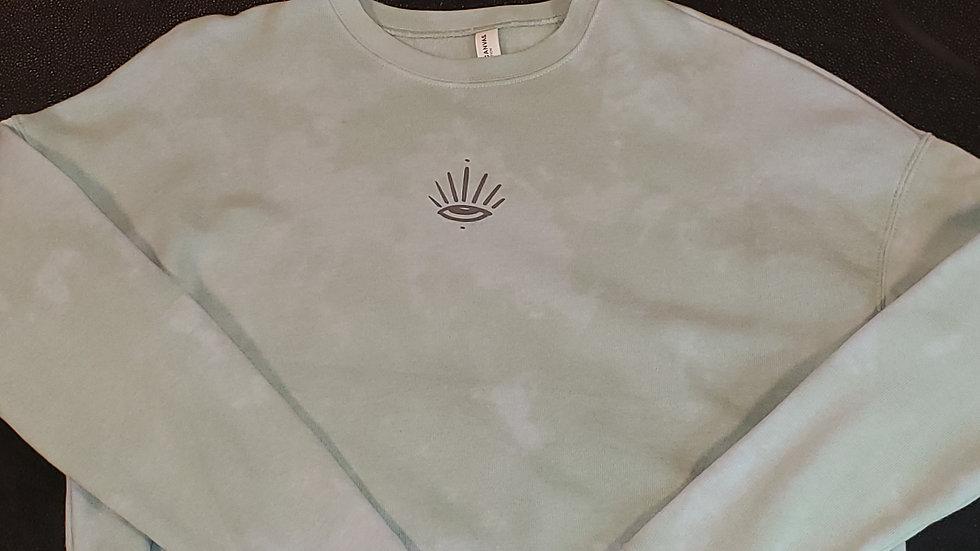 Sage Cropped Sweatshirt