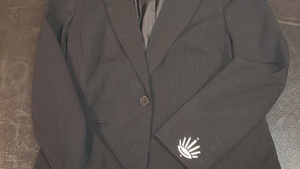 Pinstriped Oversized Blazer