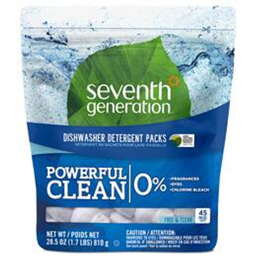 Seventh Generation Automatic Dishwasher Detergent Packs, Free and Clear