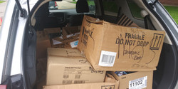 Trunk filled with PPE