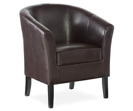 Brown Bucket Chair Front