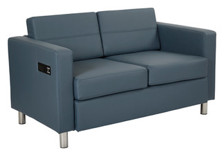 Blue Love Seat Front
