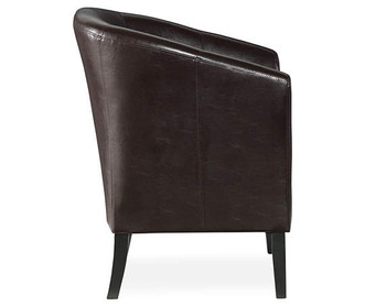 Brown Bucket Chair Sideview