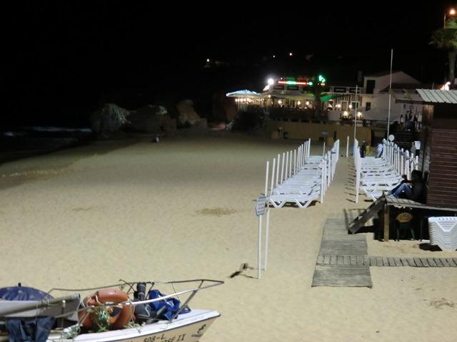 Olhos de Agua Beach at night