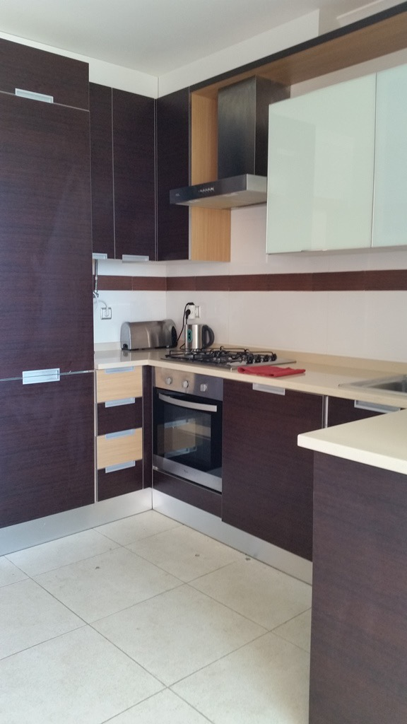 Kitchen oven and fridge freezer