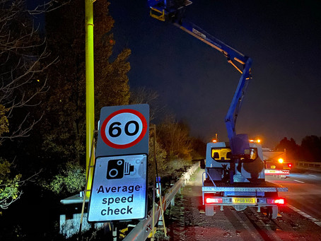 First Temporary Automated Speed Camera at Roadworks (TASCAR) barrier install completed