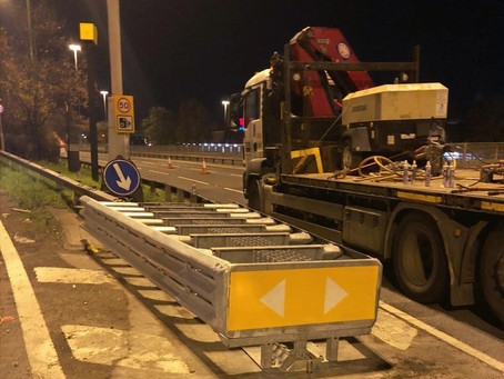 UK's First Leonidas Crash Cushion Install