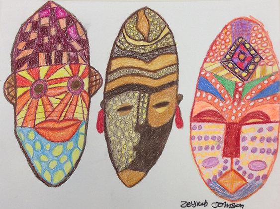 """Zeyneb Johnson- """"Masks"""""""