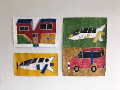 House, Rocket, Rocket, Car