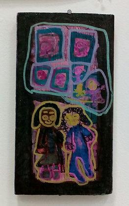 """Dana Graap- """"You and Me on a Walk (Board)"""