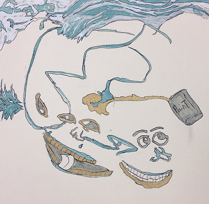 "Larell Potter- ""Wet Paint Ocean"""