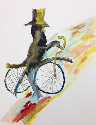 Abe on a Bike- Janet Harrison