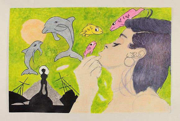 """Shamika Long- """"Woman and Fish"""""""