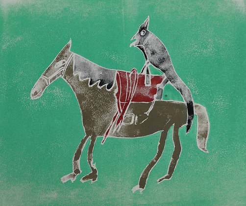 "Ron Steele- ""Dog on a Horse"""
