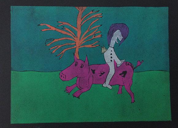 "Ron Steele- ""Backwards on a Pig"""