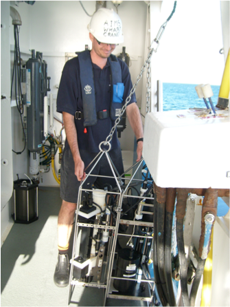 Lachlan in his PhD Student Days on the GBR