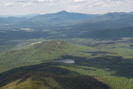 View of Heart Lake from the top of Wright Peak in the Adirondack Mountains