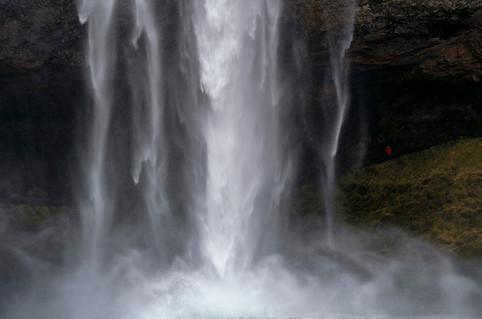Falling waters of Seljalandsfoss, April