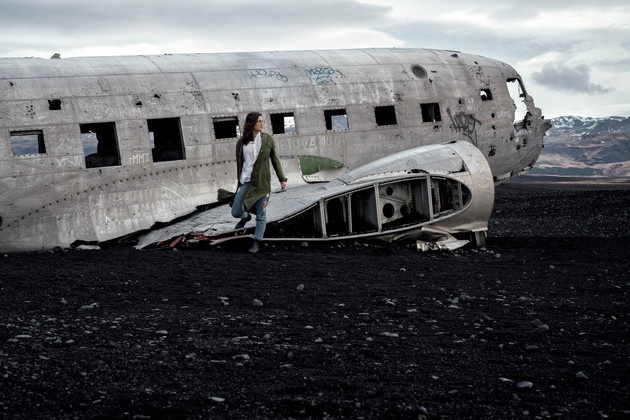 Coming out of the Plane Wreck and onto the black sand of Solheimasandur beach