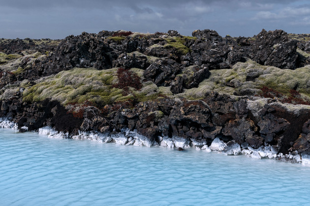 Mineral-rich water near the Blue Lagoon