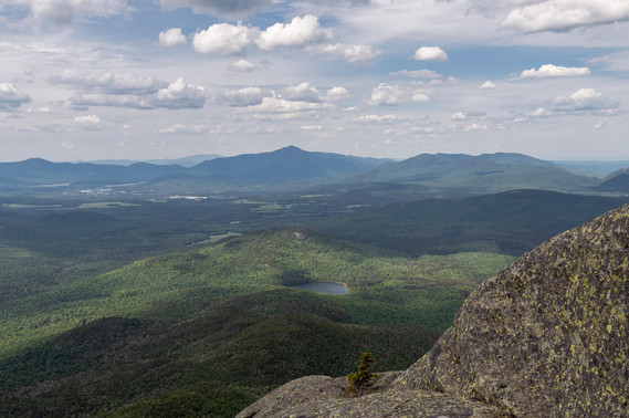 Top of Wright Peak in the High Peaks Wilderness area of the Adirondack Mountains