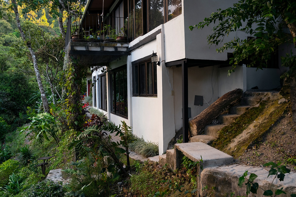 House at the rainforest edge on the hills of Anton Valley (El Valle) in central Panama