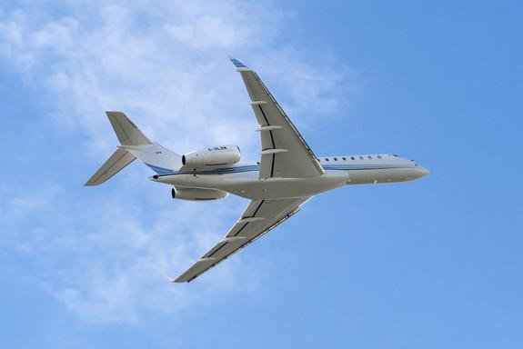 Bombardier Global 6000 on route to Wenatchee, WA