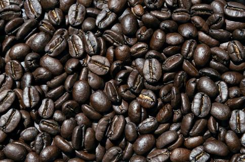 Freshly roasted Arabica coffee beans