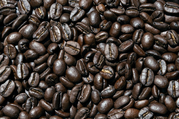 Freshly roasted Arabica coffee beans